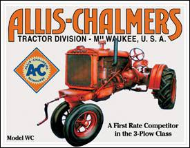 allis chalmers old logo metal sign