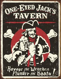 tavern metal sign