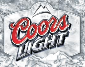 coors light logo metal sign