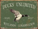 ducks unlimited metal sign