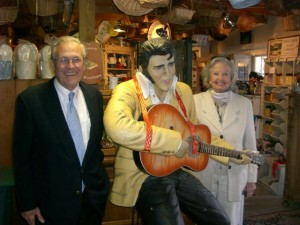 Joyce and Donald Rumsfeld paid us and Elvis a visit on Dec 3, 2009!