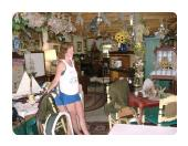 Linda Bigham - Antiques Are Her Specialty.  Front Barn Interior.