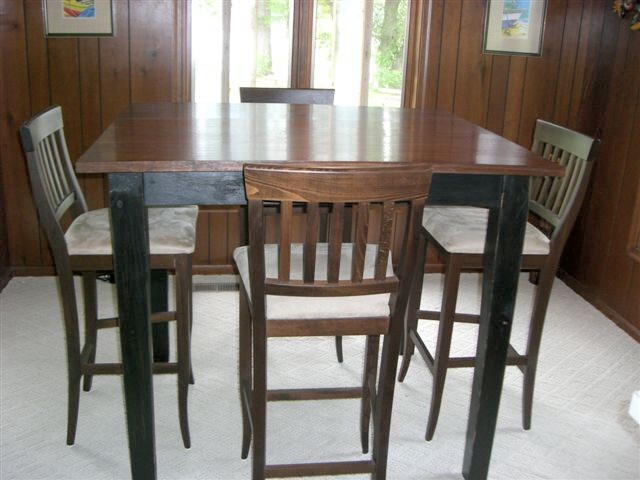 Exceptionnel 42 Inch Bar Table With Matching Chairs